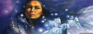 Native American Indian Girl Horses Cover Comments