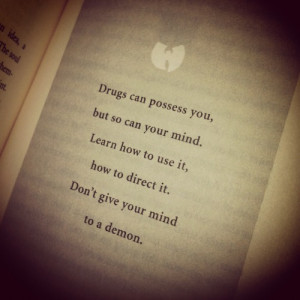 """Drugs - Words of wisdom #3 from The RZA (""""The Tao of Wu)"""