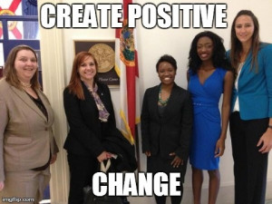 Hill meeting with Congresswoman Corrine Brown's staff with WNBA Player ...
