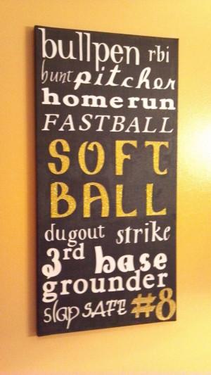 Bullpen, RBI, BUNT! homerun fastpitch, softball, dugout, strike, 3rd ...