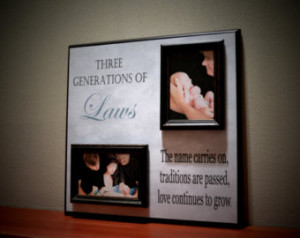 Custom Family Name Frame, Three Generations, Father, Son, Grandson ...