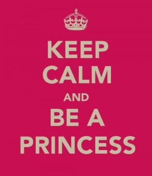 pink, princess, quote