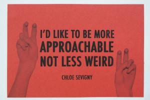 She said it! Chloe Sevigny