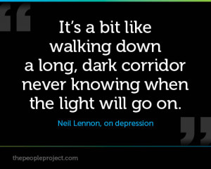 is my story, no one person has the same experience with Depression ...