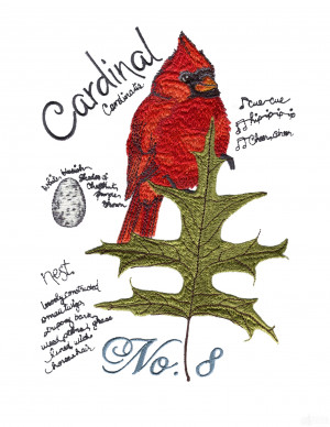 Cardinal Bird with Quotes