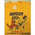 Image 1 Anti Iowa Hawkeyes T Shirt Early 80s Hayden Fry L/M