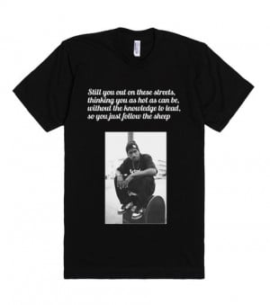 Hopsin quotes | Fitted T-shirt | Front