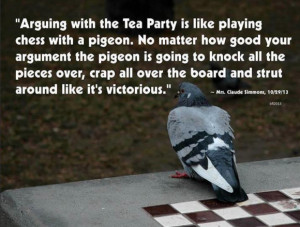 ... , and once again I was his pigeon (mark); he never even broke sweat