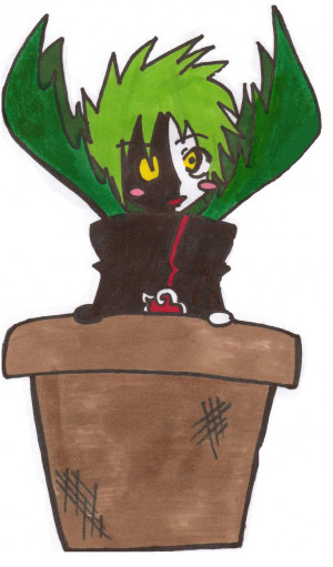 Zetsu Inna Flower Pot by ScreamingLullabies