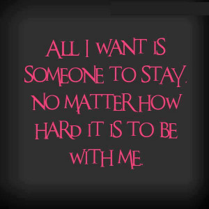 All I Want is Someone
