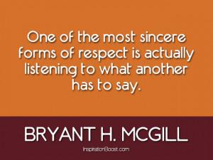 Bryant H. McGill Respect Quotes