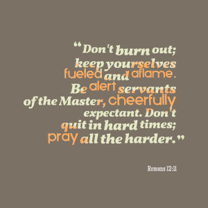 Quotes Picture: don't burn out; keep yourselves fueled and aflame be ...
