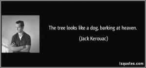 The tree looks like a dog, barking at heaven. - Jack Kerouac