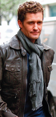 Matthew Morrison in Love Quotes Scarf