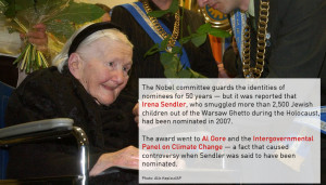 Irena Sendler, who saved 2,500 Jewish children from the Warsaw Ghetto ...
