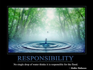 Motivational Wallpaper on Responsibility: Quote on Responsibility