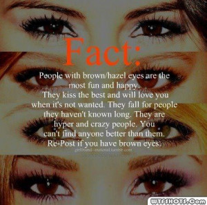 fact people with brown or hazel eyes