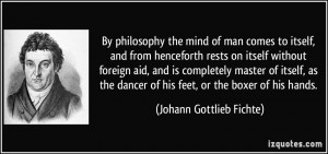 comes to itself, and from henceforth rests on itself without foreign ...