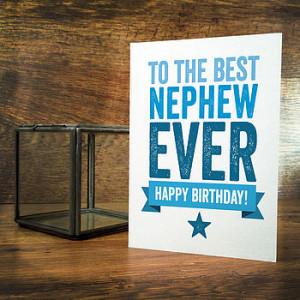 Best Nephew Birthday Card