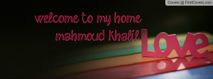 welcome to my home mahmoud khalil cover