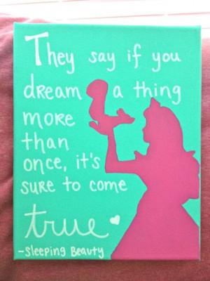 Disney Princess Quote Canvas Sleeping by CarlysCraftyCorner, $25.00