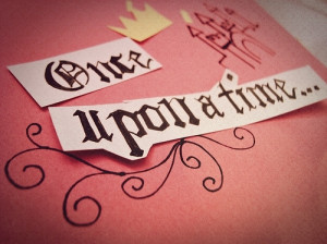 book, cute, fairytale, princess, quote, story, text, typography