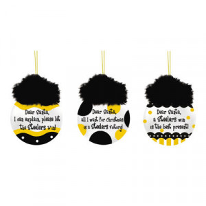 Pittsburgh Steelers 3-Pack Team Sayings Ornaments