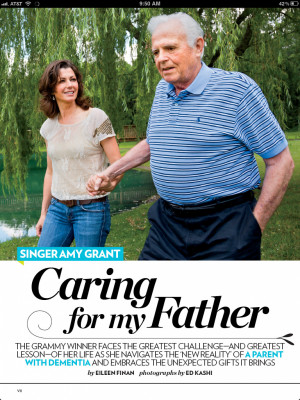 Amy Grant's father has Dementia