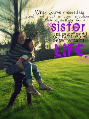 Sister Quote by n-a-photography