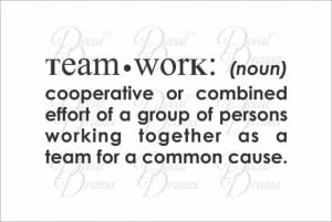 Vinyl Wall Decal Teamwork definition cooperative or by DecalDrama, $20 ...