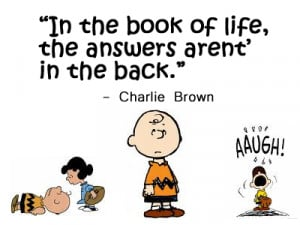Quote - Self Help by Charlie Brown