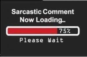 Sarcastic Comment Now Laoding Please Wait