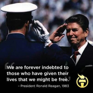 ... be free - Ronald Reagan Veteran's Day Going Green: Our Army Adventure