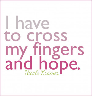 ... breast cancer, Nicole shares her fears about life post breast cancer