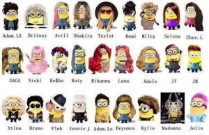 famous, gru, minion, minions, music, peace and love, singers