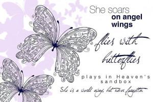 She Soars On Angel Wings