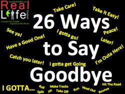 26 Dynamic Ways to Say Goodbye