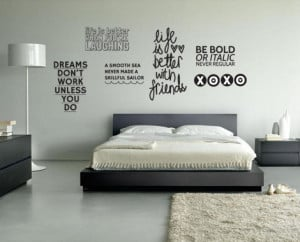 29 for Quote Wall Decal Featuring Five Inspirational Quotes