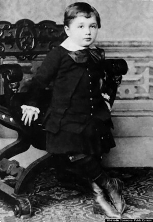 Einstein at the age of three. This is believed to be the oldest known ...