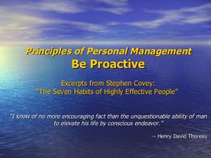 Habit 1 Be Proactive Stephen Covey