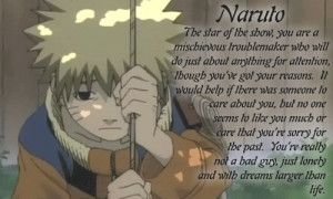 This picture of Naruto is very sad, but the quote is very nice. It ...