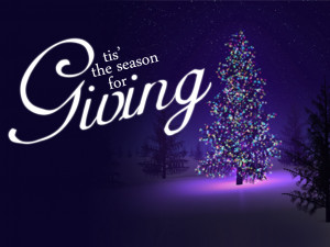 The spirit of Christmas to me is the spirit of giving and thinking ...