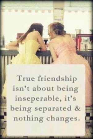 And, after drifting apart, reuniting and becoming best friends again.