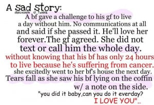 One of the most Sweetest stories I have ever heard of:( Melts my heart ...
