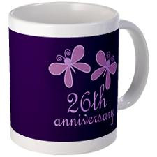 26th Anniversary Keepsake Mugs for