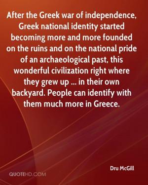 After the Greek war of independence, Greek national identity started ...