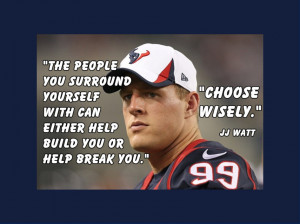 Houston Texans JJ Watt Photo Quote Poster Wall Art Print 8x11 ...