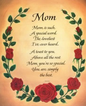 Daughter Quote – Mom is such a Special word