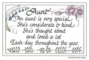 Home :: Calligraphy Quote Collections :: Family :: #51 Aunt