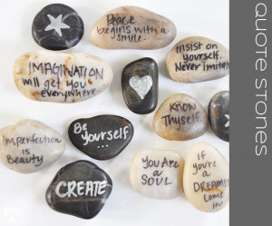 big fan of dual purpose things, and these Quote Stones do just ...